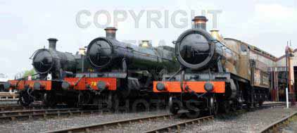 Purchase posters of 5521 2-6-2T,  7808 COOKHAM MANOR &  5322 2-6-0 Tender Locomotive