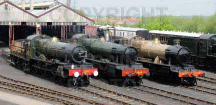 Purchase posters of 7827 LYDHAM MANOR,  7808 COOKHAM MANOR &  5322 2-6-0 Tender Locomotive