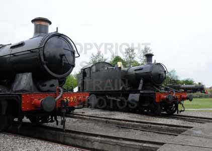 Purchase photo of 6697 0-6-2T &  6106 2-6-2T at Didcot