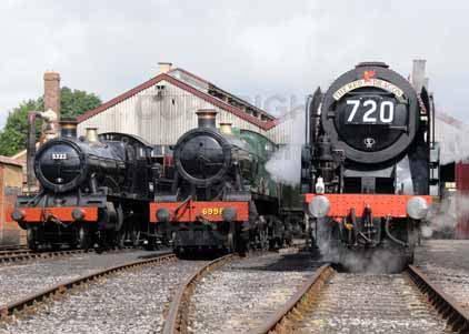 Photograph of 5322 2-6-0 Tender Locomotive, 6998 BURTON AGNES HALL & 70000  BRITANNIA
