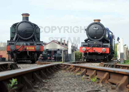 Purchase photo of 6106 2-6-2T &  6023 KING EDWARD II at Didcot