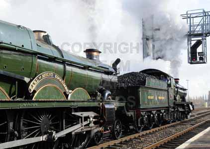 Purchase photograph of 4965 ROOD ASHTON HALL &  5043 EARL OF MOUNT EDGCUMBE at Didcot