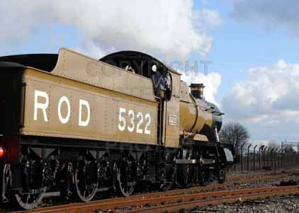 Purchase photograph of 5322 2-6-0 Tender Locomotive at Didcot