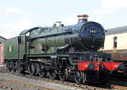 Purchase photograph of 5051 EARL BATHURST at Didcot