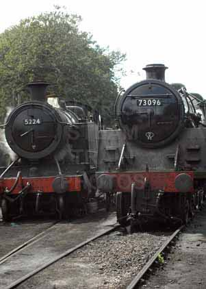 Purchase photograph of 5224 Heavy Freight Tank Engine &  73096 5MT at Mid Hants Railway