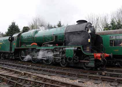 Purchase photograph of 850 LORD NELSON at Mid Hants Railway