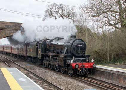 Purchase photo of 45212 Black Five at Mortimer
