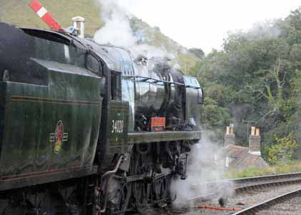 Purchase photo of 34028 EDDYSTONE at Swanage Railway